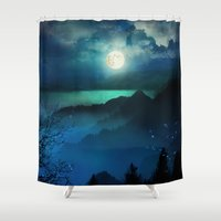 marianna Shower Curtains featuring Wish You Were Here (Chapter V) by Viviana Gonzalez