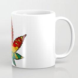 Rasta themed Marijuana Leaf Coffee Mug