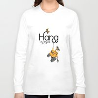 pixar Long Sleeve T-shirts featuring Pixar/Disney Wall-e Hang in There by Teacuppiranha