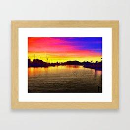 Tequila Sunset Framed Art Print