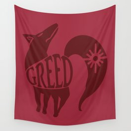 The Fox's Sin of Greed Wall Tapestry
