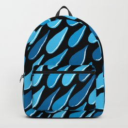 monochromatic blue aqua turquoise navy Backpack