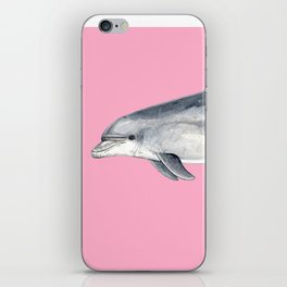 Bottlenose dolphin pink iPhone Skin