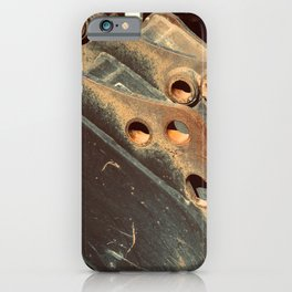 Rusted Abandoned Metal Machine Part iPhone Case
