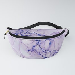 Alcohol ink purple Fanny Pack