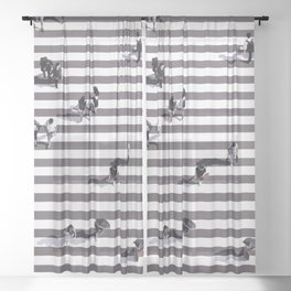 Japan Zebra Crossing (Piece of the World series) Sheer Curtain