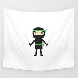 ninja with weapon Wall Tapestry