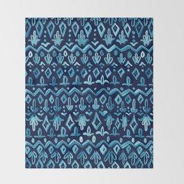 Mya Watercolor - Blue Throw Blanket