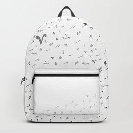 Arabic Tashkeel B&W Backpack
