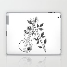 Violin, black and white Laptop & iPad Skin
