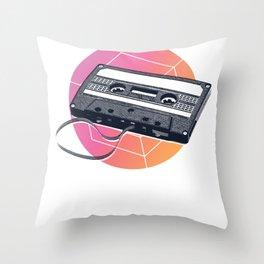 Retro Cassette Tape Vintage 80's 90's Vapor Throw Pillow