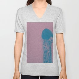Afro Retro Moments Mauve & Teal Unisex V-Neck