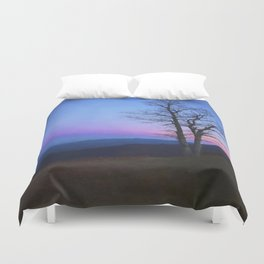 Parkway Overlook at Sunset Duvet Cover