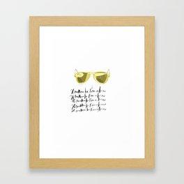 Il mattino ha l'oro in bocca Framed Art Print