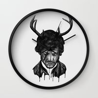 will graham Wall Clocks featuring Save Will Graham by beart24