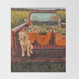Farm Dog Throw Blanket