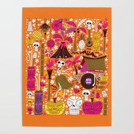 Tiki Freaks do the Hulaween Poster