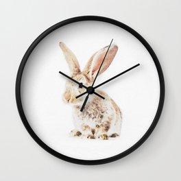 Wild Bunny Watercolor Wall Clock
