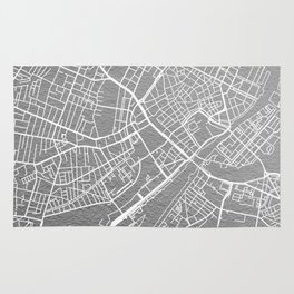 Silver Copenhagen map Rug