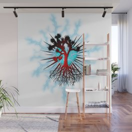 Joshua Tree Heart Light by CREYES Wall Mural