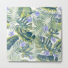 Palm Leaves Pattern 8 Metal Print