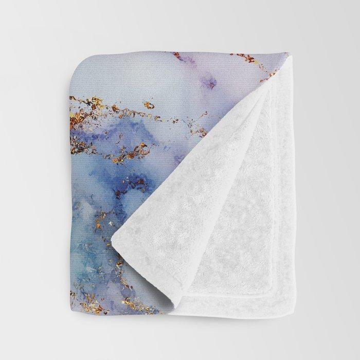 Marble Effect #6 Throw Blanket