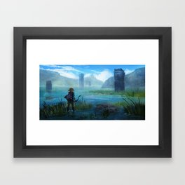 Lake Hylia Framed Art Print