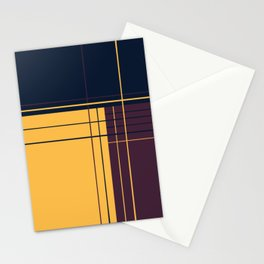 Abstract graphic I Dark blue Purple Yellow Stationery Cards