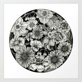 Birth Flower Bundle Art Print