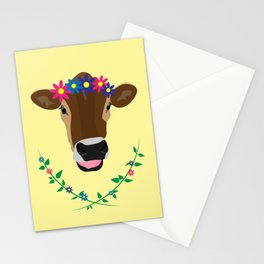 Spring Cow Stationery Cards