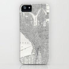Vintage Seattle Map Slim Case iPhone (5, 5s)