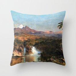 12,000pixel-500dpi - View of Cotopaxi - Frederic Edwin Church Throw Pillow