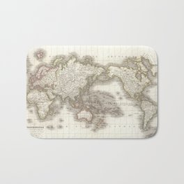 Vintage Map of The World (1832) Bath Mat