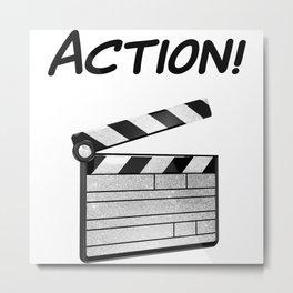 Action! Metal Print
