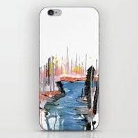 river iPhone & iPod Skins featuring River by Halfmoon Industries