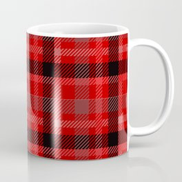 Red And Black Plaid Flannel Coffee Mug