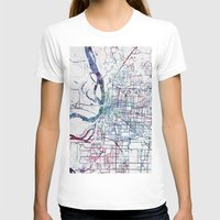 memphis T-shirts featuring Memphis map by MapMapMaps.Watercolors