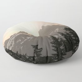 Adventure in the Mountains - Nature Photography Floor Pillow