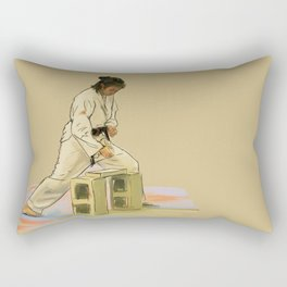 Preparing to Break a Brick Rectangular Pillow