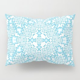 icy blue abstract Pillow Sham