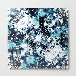 Abstract Marble Tie Dye Metal Print