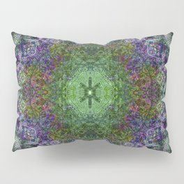 Mandala Glitch Rusted Pillow Sham
