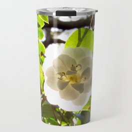 White Camellia Travel Mug