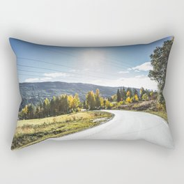 Roads of Norway. || Gol, Norge. || Mountains. || Colourful Autumn. || Madara Travels. Rectangular Pillow