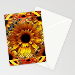 AWESOME GOLDEN SUNFLOWERS  PATTERN ART Stationery Cards