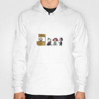 peanuts Hoodies featuring Good Grief Bat Peanuts by thedoormouse