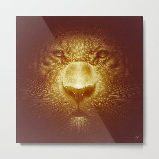 Gold Tiger Metal Print