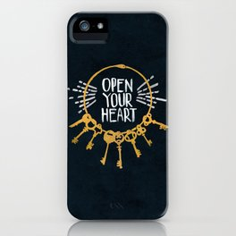 Open Heart - Dark Background iPhone Case