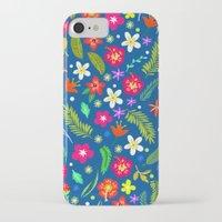 hawaiian iPhone & iPod Cases featuring Hawaiian Garden by uzualsunday