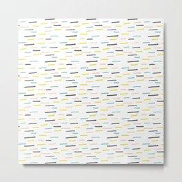 Freshtastic Lines Illustration Pattern Metal Print
